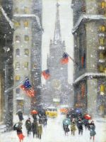 Winter on Wall Street NY