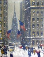 Winter Wall Street
