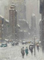Blizzard on Lexington Avenue, New York