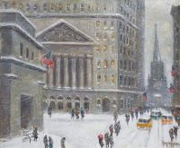 Broad and Wall Street, in Winter