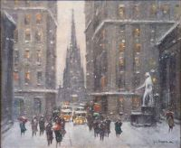 Wall Street in Winter